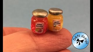 Polymer Clay Miniature 1 To 12 - Marmelade Jar
