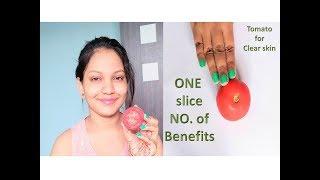 How to get clear , Glowing skin using tomato || Skin care using tomato || Glow Gossip