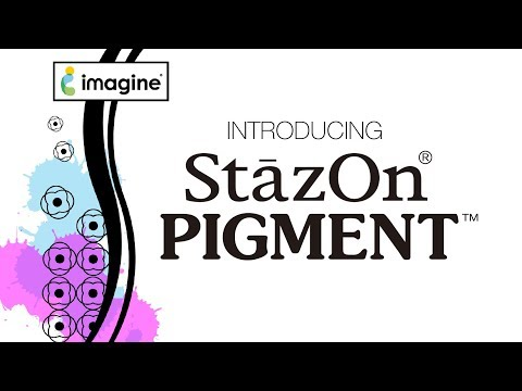 StazOn Pigment -mustetyyny, sävy Peacock Feathers