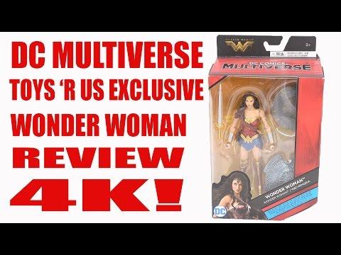 DC MULTIVERSE WONDER WOMAN MOVIE TOYS R US EXCLUSIVE WONDER WOMAN  FIGURE REVIEW 4K!!