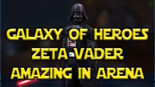 Star Wars: Galaxy Of Heroes - Zeta Vader Lead Is Amazing In Arena