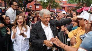 Cálido recibimiento a Andrés Manuel López Obrador #AMLO en Coyoacán (7 de mayo 2018)