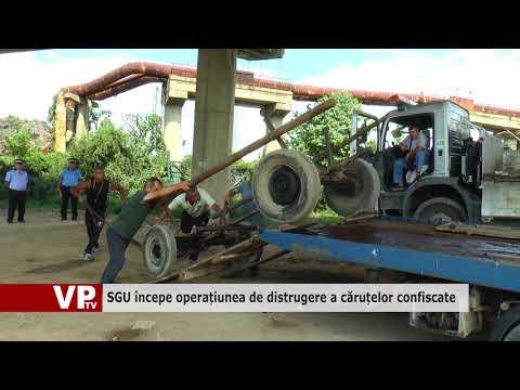 SGU începe operațiunea de distrugere a căruțelor confiscate