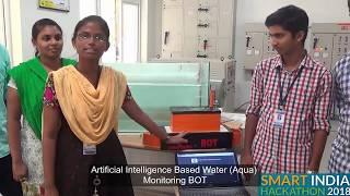 Aquators I Artificial Intelligence Based water monitoring BOT I SIH 2018 I Clean Water I DGCT