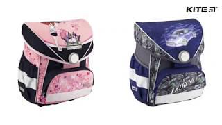 """Ранец школьный каркасный Kite K18-579S-1 от компании Интернет-магазин """"Радуга"""" - школьные рюкзаки, канцтовары, творчество - видео"""