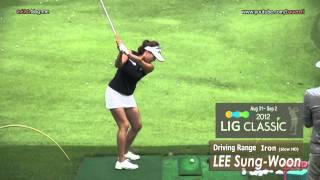 [Slow HD] LEE Sung-Woon 2012 Iron With Practice Golf Swing_Driving Range_KLPGA Tour (3)