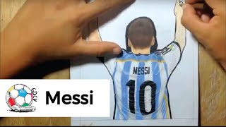 hmongbuynet  Dibujo del gol de Messi que dej a Cristiano