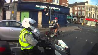 preview picture of video 'Tooting Broadway - Civil Enforcement Officer Using PDA on Scooter'
