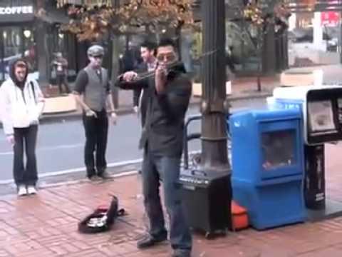 Amazing Street Musician Playing Violin