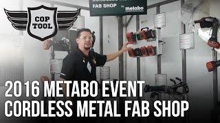 Metabo's Cordless Metal Fab Shop – Cutting, Beveling, Polishing, Grinding, Tapping