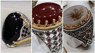 Latest Mens Silver Gemstone Rings Designs
