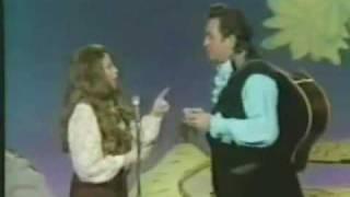 Johnny Cash & June Carter Cash with Their Harmonicas