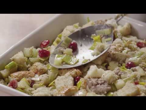 How to Make Cranberry Sausage and Apple Stuffing | Stuffing Recipes | Allrecipes.com