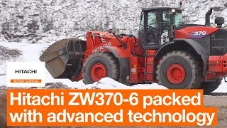 Hitachi ZW370-6 Working in Aggregate