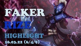skt faker rize one game highlights 649