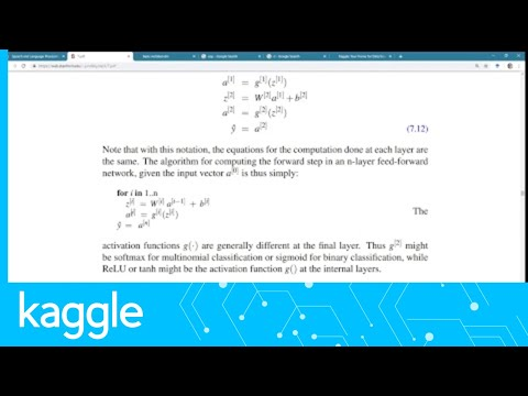 kaggle reading group neural networks and neural language mo
