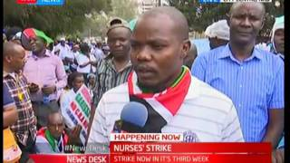 Major demonstrations in the country by the nurses as they demand  signing of the CBA