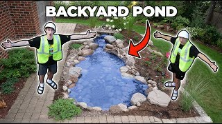 BUILDING A BACKYARD POND!! ... (parents Didnt Know)