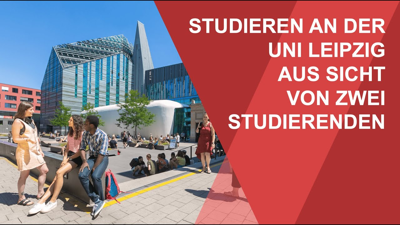 Two students on studying at Leipzig University