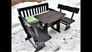 """Комплект мебели из массива деревянный 750*750 от компании Группа компаний """"Промконтракт ЛТД"""" - видео"""