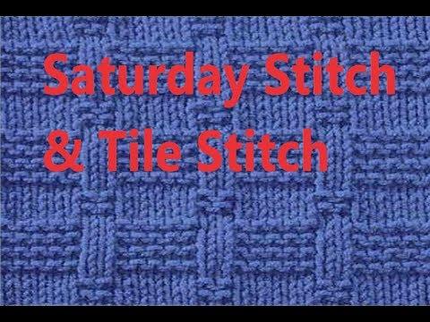 #Knitting #Hqpds #Saturday #stitch Knitting Galore Saturday Stitch & Tile Stitch Knitting Pattern Cr