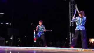 Performance of the team from Uzbekistan /  2014 Chundju World Martial Arts.