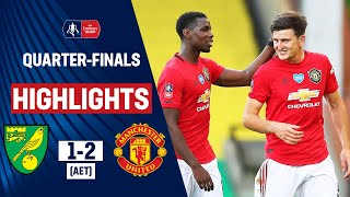 Harry Maguire's late extra-time goal helped put Manchester United into the semi-finals of the Emirates FA Cup. Timm Klose was sent off for a foul on the edge of the box, after Odion Ighalo and Todd Cantwell had each scored in the second half.   Follow @EmiratesFACup on Twitter for in-game highlights and match updates! https://twitter.com/emiratesfacup  Subscribe: https://www.youtube.com/thefacup  To find out more about The Emirates FA Cup visit: TheFA.com/EmiratesFACup  The Emirates FA Cup on Facebook https://www.facebook.com/EmiratesFACup/  The Emirates FA Cup on Instagram https://www.instagram.com/emiratesfacup/