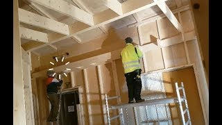 20ft long tray ceiling bulkhead, and almost losing a ladder at #jarleifhouse!