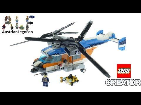 Vidéo LEGO Creator 31096 : L'hélicoptère à double hélice