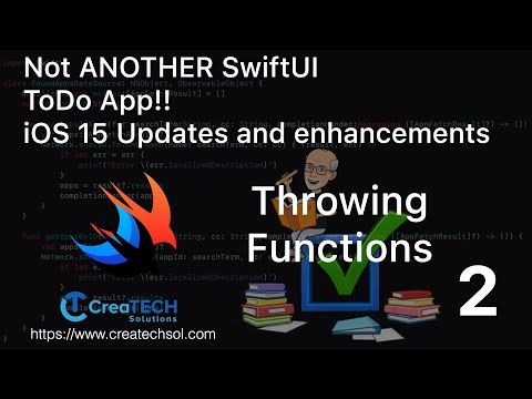 My To Dos SwiftUI app iOS15 upate 2 Throwing Functions thumbnail