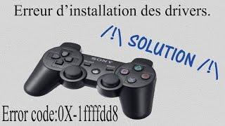 Comment résoudre le problème Error code:0X-1ffffdd8 sur DS3 Tools (Manette PS3)