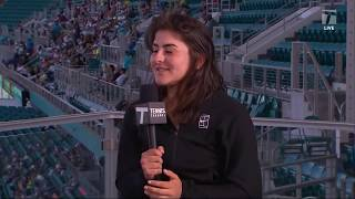 Bianca Andreescu - 2019 Miami Second Round Tennis Channel Desk Interview