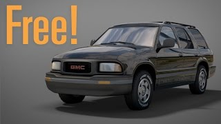 Free GMC Jimmy 3d Model!