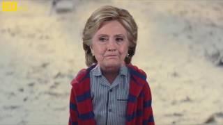 مقطع مركب لدعاية متاجر جون لويس السنوية - هيلاري كلينتون ودونالد ترامب - بتموت من الضحك