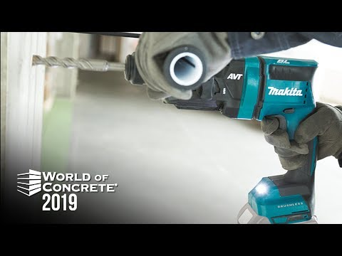 All NEW Makita XRH12 SDS Plus Rotary Hammer at World of Concrete 2019