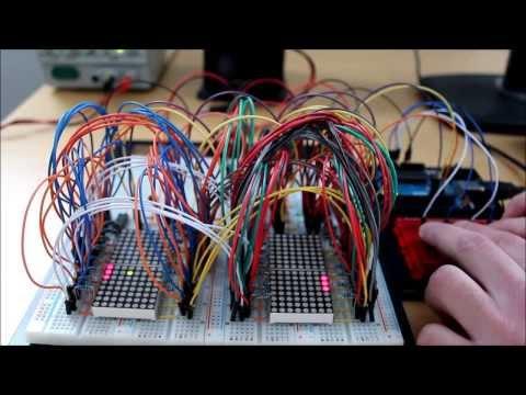 Arduino - Pong on 16x16 LED matrix - смотреть онлайн на Hah Life