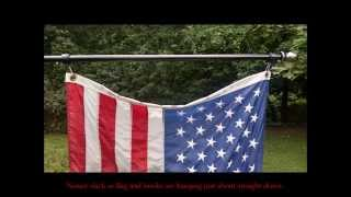 How to properly attach flag to rotating mounting rings