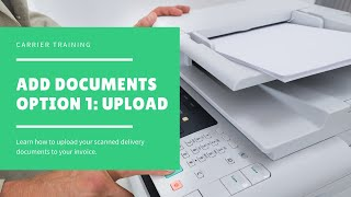 Upload Delivery Documents