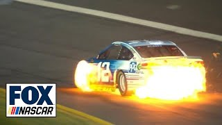 Ryan Blaney's car bursts into flames | 2018 CHARLOTTE | FOX NASCAR (VIDEO) - Video Youtube