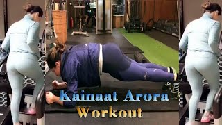 Kainaat Arora home workout for fitness during the Coronavirus lockdown