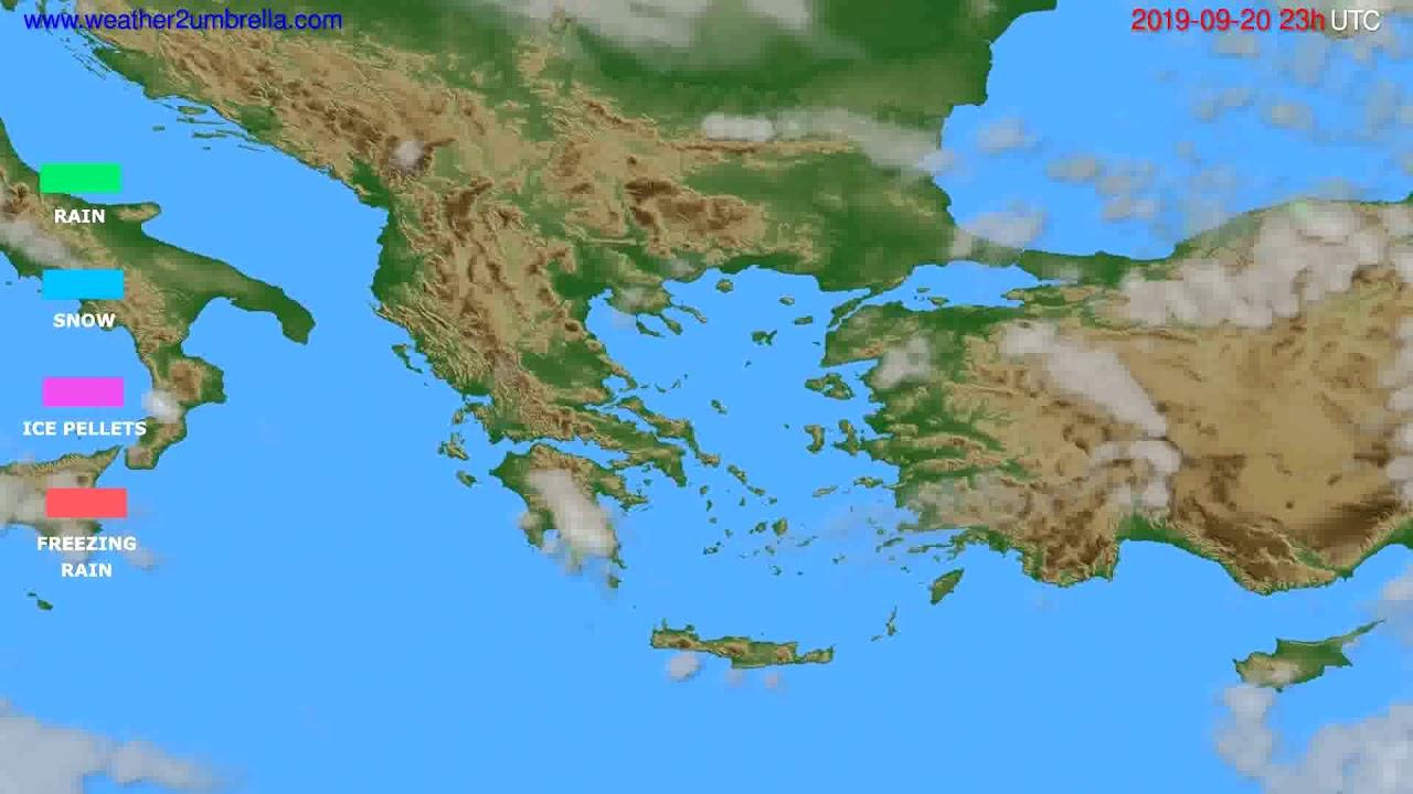 Precipitation forecast Greece // modelrun: 12h UTC 2019-09-17