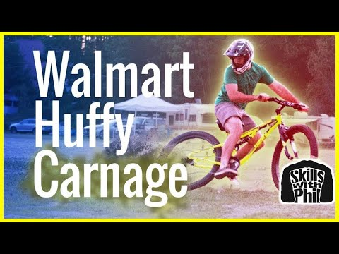 Will a Walmart Huffy survive a Downhill Mountain Bike Trail? | Skills with Phil