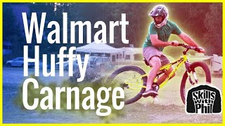 Will a Walmart Huffy survive a Downhill Mountain Bike Trail?   Skills with Phil