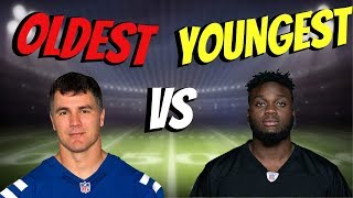 OLDEST VS YOUNGEST PLAYER IN NFL!! WHO CAN GET A 99YD TOUCHDOWN FIRST?!?