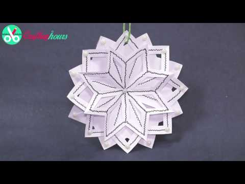 Download 3D Snowflake DIY Tutorial - How to Make 3D Paper Snowflakes for homemade decorations HD Video