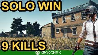 9 KILL SOLO WIN / PUBG Xbox One X
