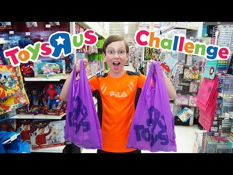 20 DOLLAR TOYS R US CHALLENGE TOY SHOPPING HAUL OPENING | COLLINTV