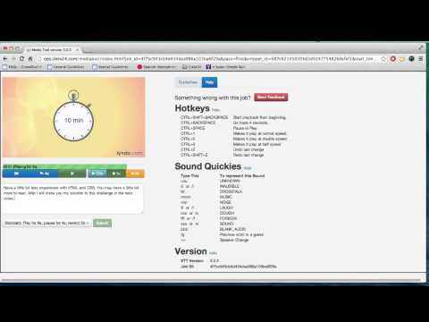 Transcription Training Video - Beginners - YouTube