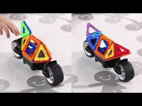 Set magnetic de construit- Magformers Vehicule -17 piese