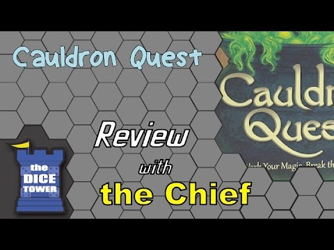 The Dice Tower: Chief Reviews Cauldron Quest